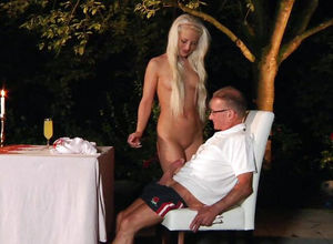 Trampy Foolish Entertains An Older Guy..
