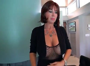 This huge-chested mature gal want to..