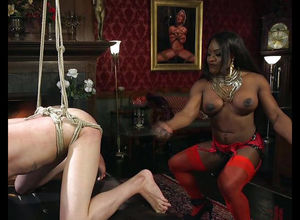 Ebony  Kelli Provocateur trussing..