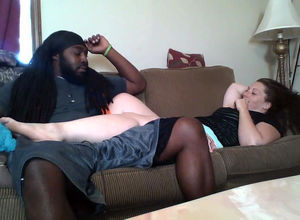 Jamaican dude seduced a milky whore