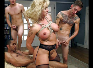 Bound up chesty mature gets dual..