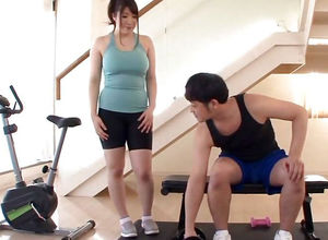 Chinese Gym Biotch Has Massive Boobies..