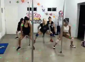 Adorable latina young womans twerking...