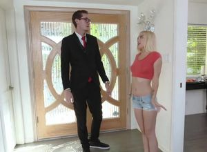 Teeny blond Alex gets conned and..