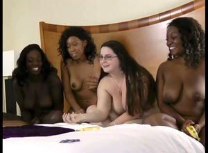 Grind girl-on-girl roulette with 4..