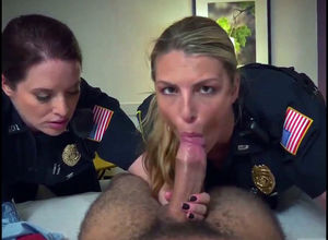 2 bigtit blond damsels officers..