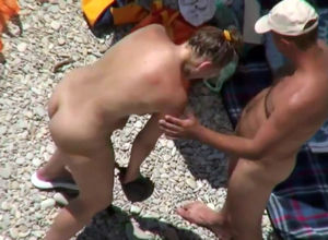 caught couples, beach blowjob, beach..