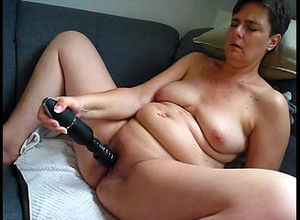 Sex-starved mature pushes vibro as..