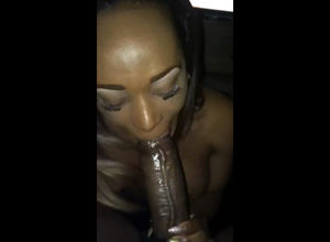 Ebony Girlfriend attempts inhale my..