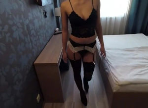 Cool slender fuckslut  humped in hotle..