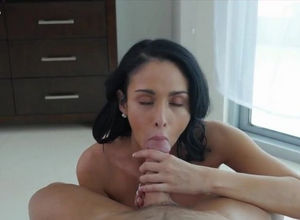 Sexy milf fucked fat dong of her..