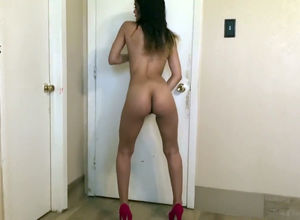 Bare latina bitch railing fuck stick..