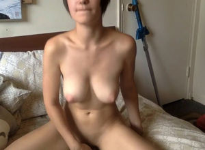 Nude dark-haired adorable quickie..