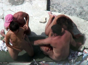 Beach swinger hookup from hidden cam