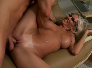 Adult movie star in glasses Emma Starr..