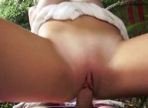 Spectacular ash-blonde female gets..