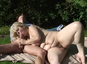 Big-chested blond mom gets penetrating..