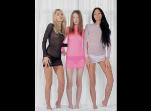 Trio nice maidens Gloria Jasmin and..