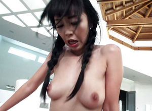 Japanese hotty gets her rectum humped..
