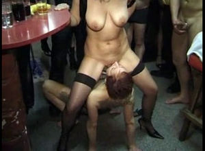 Real  swinger club,  during a soiree