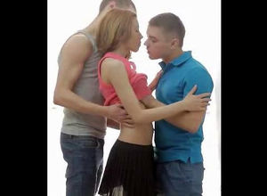 2 boys smooches maiden girl. When nude..