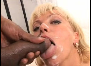 muddy milf taking dark-hued facial..